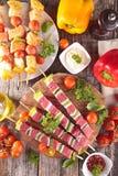 Rohes Rindfleisch für Grill lizenzfreies stockbild
