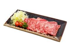 Rohes Rindfleisch geschnitten Lizenzfreies Stockbild