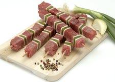 Rohes Rindfleisch und Gemüse Lizenzfreie Stockfotos
