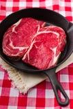 Rohes Rindfleischfleisch stockbild