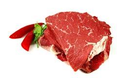 Rohes Rindfleischfleischsteak Stockfoto
