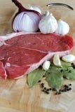 Rohes Rindfleischsteak Lizenzfreies Stockfoto