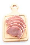 Rohes Schweinefleisch stockbilder
