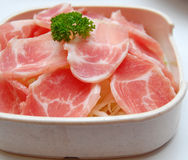 Rohes Schweinefleisch Stockbild