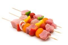 Rohes Schweinefleisch kebab lizenzfreies stockfoto