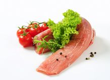 Rohes Schweinefleischzartes lendenstück lizenzfreie stockfotografie