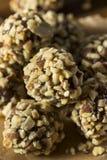 Rohes selbst gemachtes gesundes Gluten-freie Datums-Bisse Stockbild