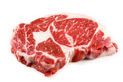 Rohes Steak Stockbild