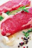 Rohes Steak stockfoto