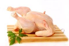 Rohes vollständiges Huhn lizenzfreies stockbild