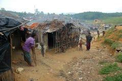 Rohingya难民在孟加拉国 库存照片