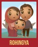 Rohingya-Familie Lizenzfreie Stockbilder