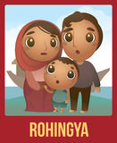 Rohingya family Royalty Free Stock Images