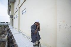Rohingya-Flüchtling in Aceh-Schutz Stockfotos