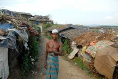 Rohingya refugees in Bangladesh Royalty Free Stock Photos