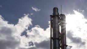 Rohr auf einer Gasinstallation Lizenzfreies Stockfoto