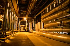 Rohr-, Gefäß-, Maschinerie- und Dampfturbine Lizenzfreie Stockfotos