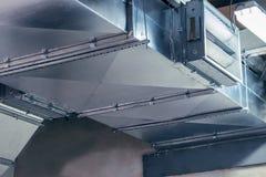 Rohr, Kanalisierung, Belüftung, Klimaanlage, industriell, modern, metallisch stockbilder