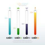 Rohr-Meter Infographic Lizenzfreies Stockbild