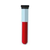 Rohr mit Blut Lizenzfreies Stockfoto