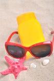 Rohr mit Sonnenschutz Stockbilder