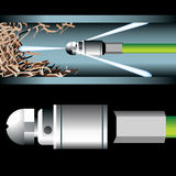 Rohr-Reinigung lizenzfreie abbildung