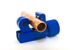 Rohr-Scherblock mit Rohr Stockfoto