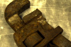Rohr-Schlüssel stockfotografie