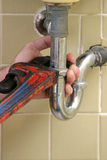 Rohr-Schlüssel des Klempners Stockfotos
