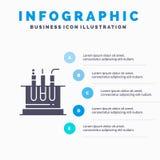 Rohr, Test, Labor, medizinische Infographics-Darstellungs-Schablone 5 Schritt-Darstellung lizenzfreie abbildung