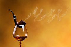 Rohr und Weinbrand Lizenzfreies Stockbild