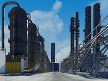 Rohre der Fabrik lizenzfreie abbildung