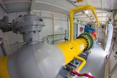 Rohre des Kraftwerks Stockbild