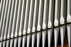 Rohre eines schönen Organs Stockbild