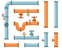 Rohre eingestellt für das Plombieren oder Baugewerbe Lizenzfreies Stockfoto