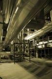 Rohre innerhalb der Energieanlage Lizenzfreie Stockfotografie
