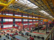 Rohrfabrik ` Höhe 239 ` Stockfoto