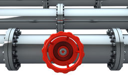 Rohrleitung-Absperrhahn Stockbild