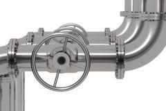 Rohrleitung-Detail-Schärfentiefe Stockbild