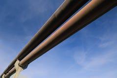 Rohrleitung im Himmel Stockfotos