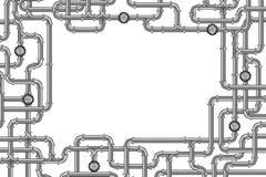 Rohrleitungen mit Ventil und Lots Exemplarplatz Lizenzfreies Stockfoto