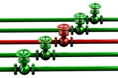 Rohrleitungen mit Ventilen Lizenzfreies Stockbild