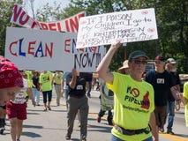 Rohrleitungs-Protestierender lizenzfreie stockfotos