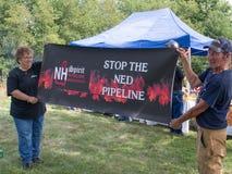 Rohrleitungs-Protestierender stockbild