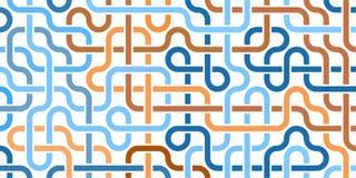 Rohrleitungsgitter Abstraktes geometrisches Design von Rohren Industrieller Hintergrund Architekturmetallbau Geometrisches Muster Stockfoto