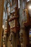 Rohrorgan im Innenraum Kathedrale der Str.-Michael lizenzfreie stockbilder