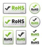 RoHS Compliant Icons Set Stock Photos