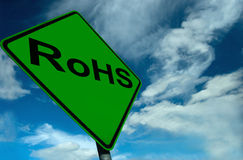 A RoHS Sign Royalty Free Stock Photo