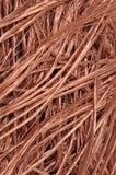 Rohstoff der Kupferdrähte Stockbild