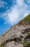 Rohtang La pass Traffic jam of cars Royalty Free Stock Images